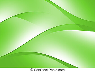 Abstract curve texture green background