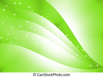 Abstract curve texture with green background
