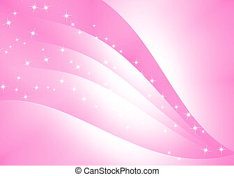 Abstract curve texture with pink background