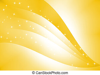 Abstract curve texture with yellow background