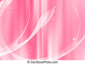 Abstract curve with pink background