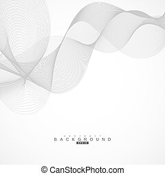 Abstract curved lines on grey background. Vector illustration.