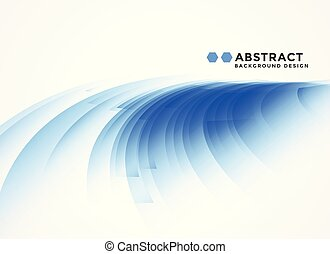 abstract curvy blue shape background