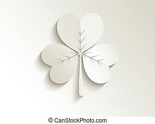 abstract cute clover vector