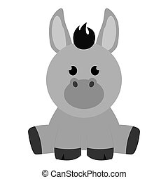 Abstract cute donkey