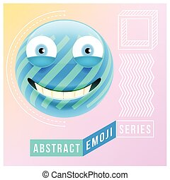Abstract Cute Happy Emoji