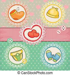 lovely baby vector illustration