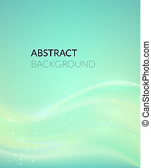 Abstract cyan background with smooth lines