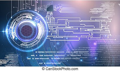 Abstract cyber eye futuristic background