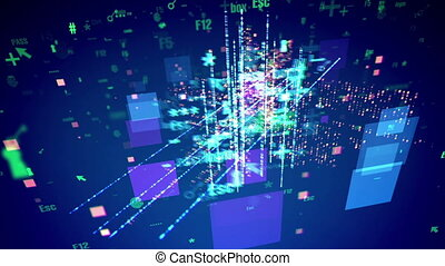 """""""Abstract Cyber Symbols Turning Around"""""""