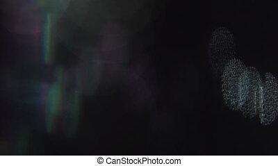 Abstract cyberpunk motley futuristic trendy iridescent...