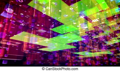 """""""Abstract cyberspace with computer symbols"""""""