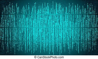 High-tech computer digital background with blue digital lines