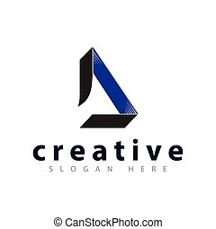 abstract D letter logo icon vector template