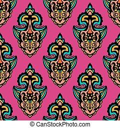 abstract damask seamless design