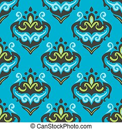 abstract damask seamless floral design