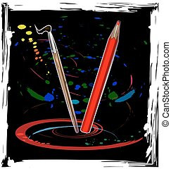 abstract dance of pencil
