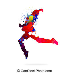 Abstract dancer