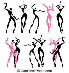 Abstract dancing figures