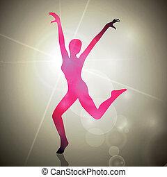 Abstract Dancing Vector Woman