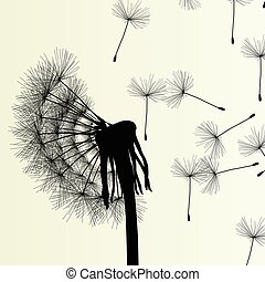 Abstract dandelion background vector Illustration spring
