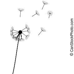 abstract dandelion background vector illustration