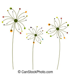 Abstract dandelion flowers