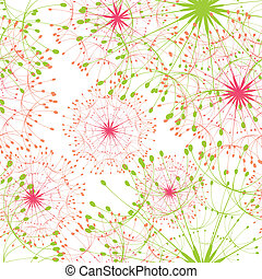 Abstract dandelion seamless pattern