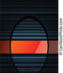 Abstract dark background vector with orange glossy element