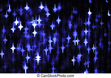 Abstract dark background with blue and white stars