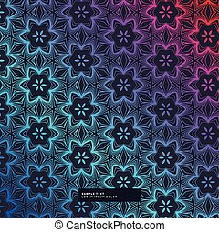abstract dark background with flower pattern