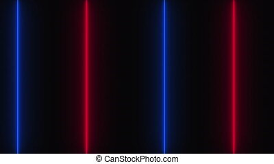 Abstract dark background with neon vertical lines, computer generated. 3d render