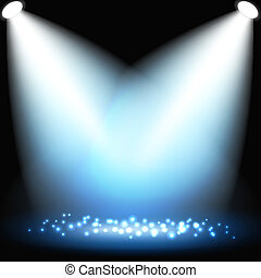Abstract dark background with spotlights