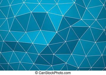 Abstract dark blue background - 3D abstract polygonal dark...