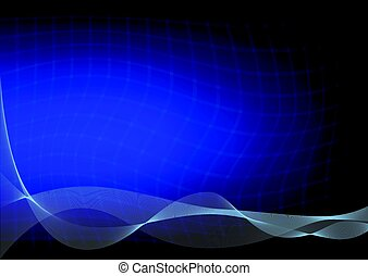 Abstract dark blue background with a curved lines
