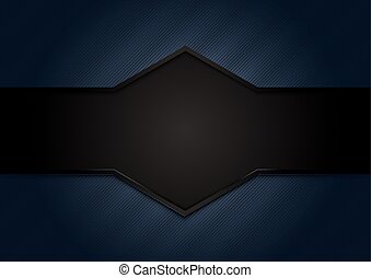 Abstract dark blue background with black space for your text