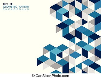 Abstract dark blue geometric background with polygonal triangles.