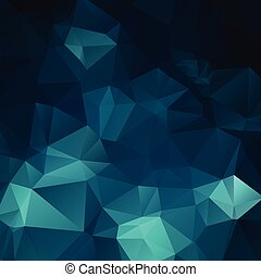Abstract dark blue polygon