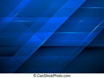 Abstract dark blue rectangles background. Technology concept design