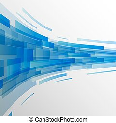 Abstract dark blue rectangles technology background
