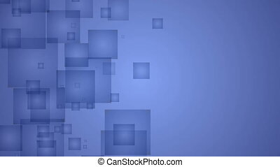 Abstract Dark Blue Squares.