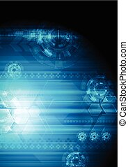 Abstract dark blue tech background