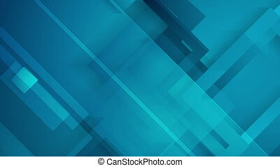 Abstract dark blue technology geometric video animation