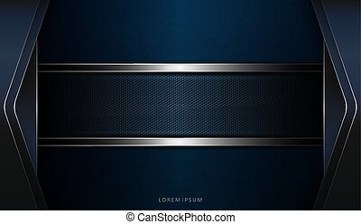 Abstract dark blue texture design with arrows and a textured border with a border
