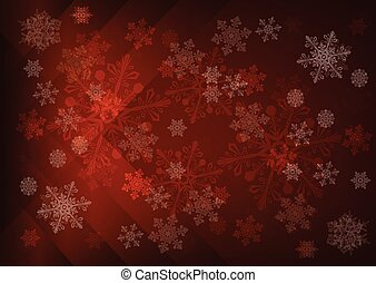 Abstract dark brown background with snowflakes