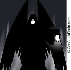 gothic angel - abstract dark burning place and dark gothic ...