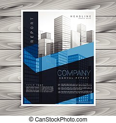 abstract dark business brochure vector design with space for your photo