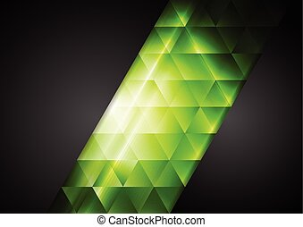 Abstract dark corporate background with bright triangles