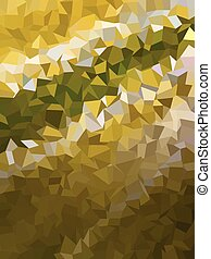 Abstract dark golden color triangles pattern