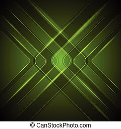 Abstract dark green tech glossy background